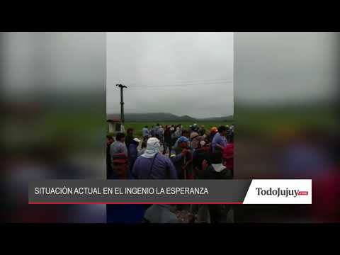 Corte y manifestación de trabajadores del ingenio La Esperanza