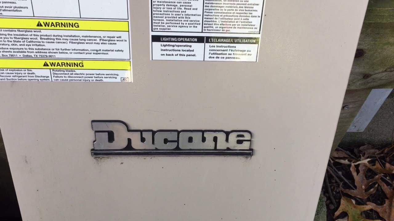 hight resolution of ducane furnace problem solved