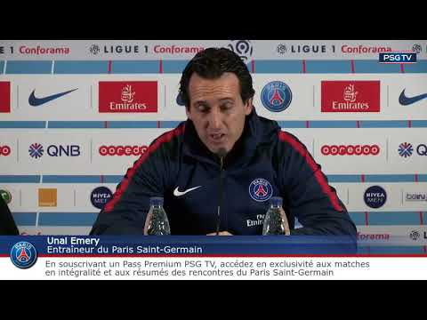 Conférence de presse d'Unai Emery avant Monaco Paris