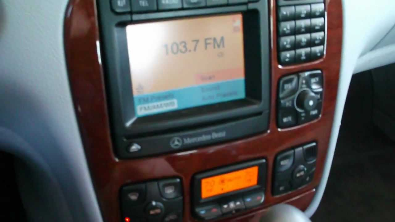 W220 sclass Comand stereo modifications and updates in