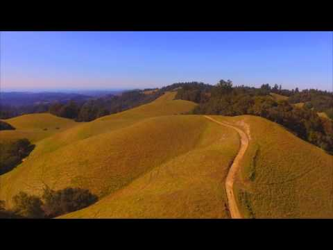 Skyline Boulevard - California State Route 35 (drone footage)
