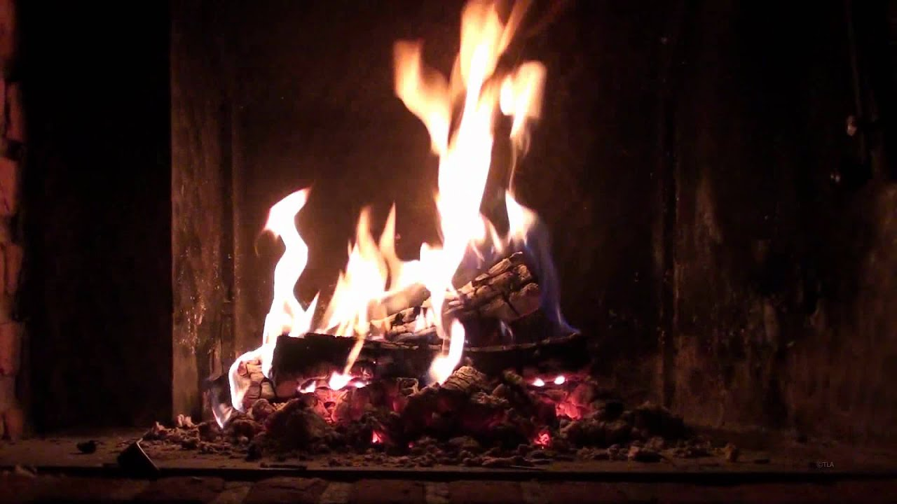 Romantic Christmas Fireplace Perfect Burning Crackling