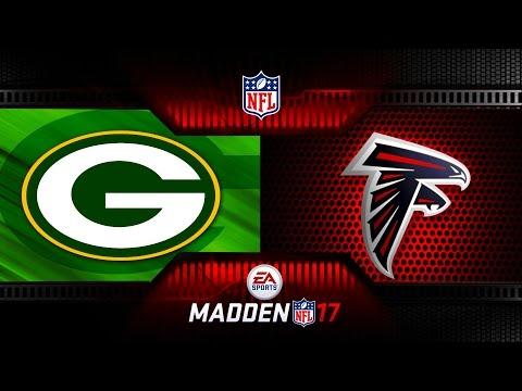 NFL MADDEN PLAYOFFS GREEN BAY PACKERS VS ATLANTA FALCONS - NFL PAYOFF FOOTBALL MADDEN 17