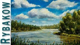 Amazing Seascape - New Impasto Sea oil Painting - ART by Valery Rybakow