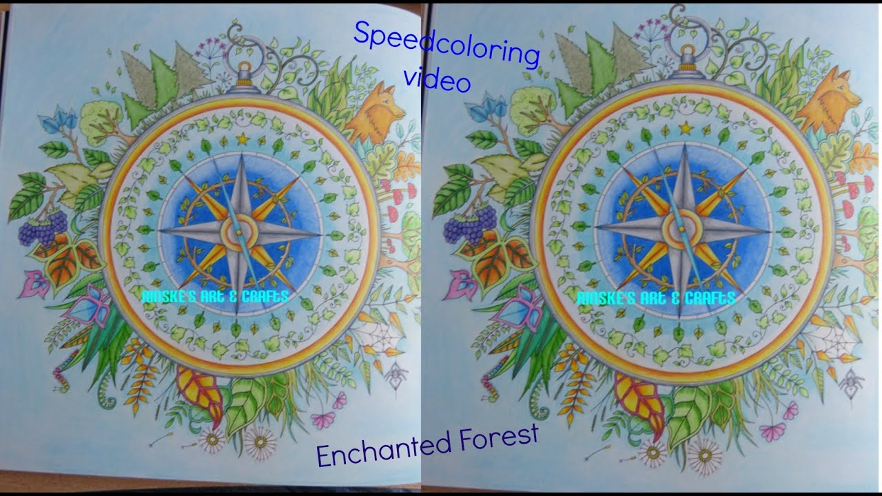 Speedcoloring Video Enchanted Forest Compass