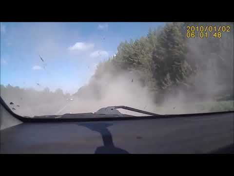 "Car Crashes Magically ""Unhappening"" (Reverse Video)"