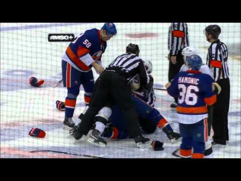Penguins @ Islanders (all Fights) 2/11/11