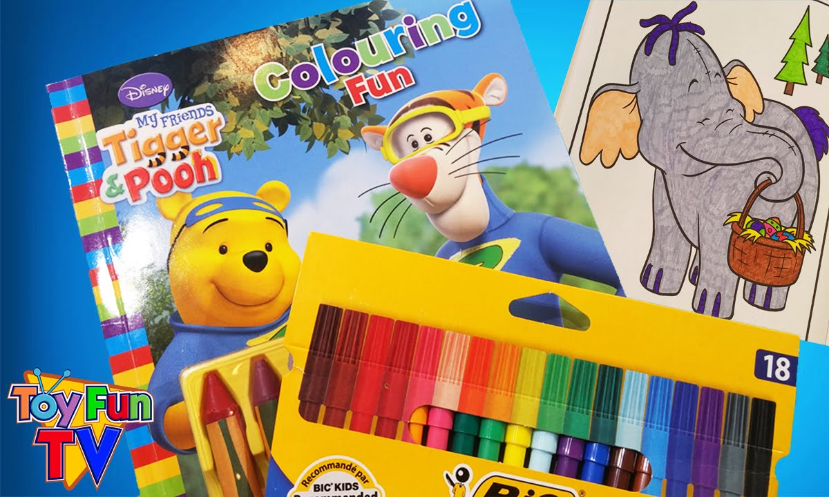 DISNEY WINNIE THE POOH Colouring Color in Lumpy Easter Basket