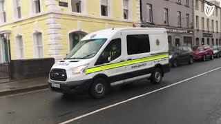 Gerard Cruise being escorted from Dundalk district court