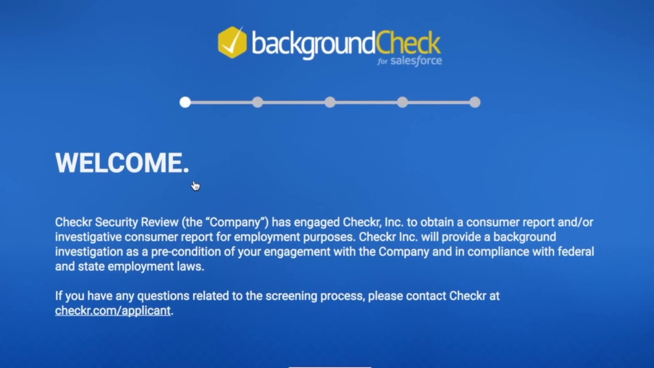 Background Check for Salesforce (powered by Checkr) - GSD