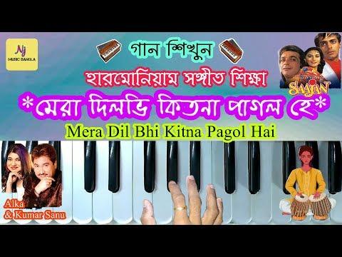 Harmonium Tutorial || MERA DIL BHI KITNA PAGAL HAI || হারমোনিয়াম সঙ্গীত শিক্ষা || Learn Music thumbnail