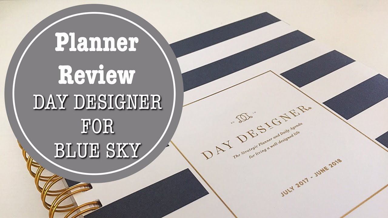 photo about Daily Designer known as Planner Evaluation Working day Designer for Blue Sky 2017-2018