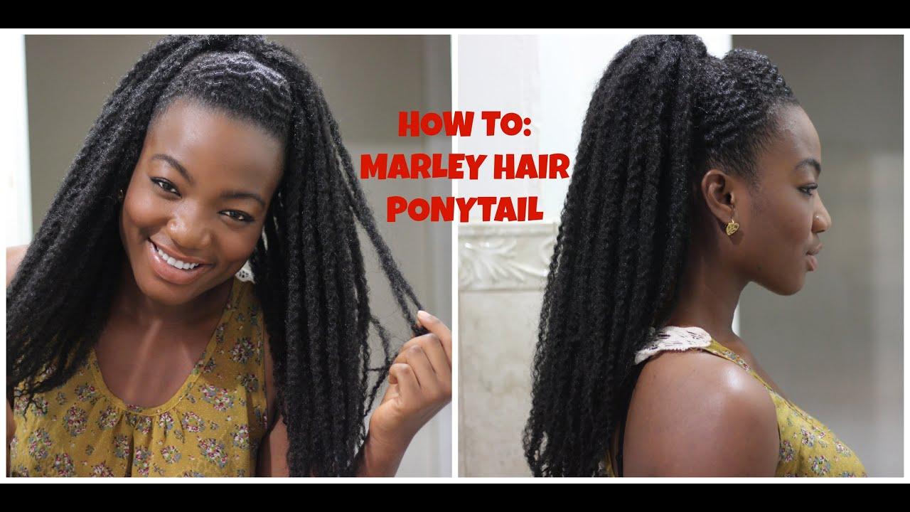 Natural Hair Twa Styles Marley Hair Ponytail Or Bun
