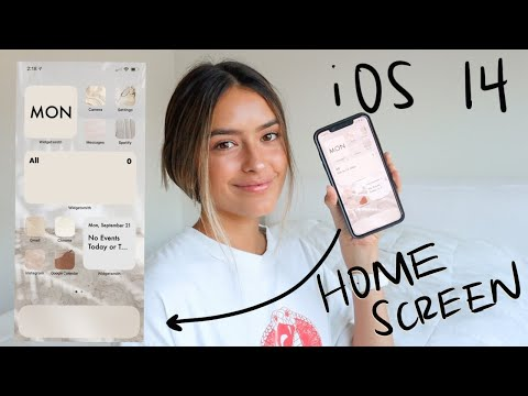 HOW I CUSTOMIZE MY IOS 14 HOME SCREEN Calm And Neutral Theme | Step By Step Tutorial