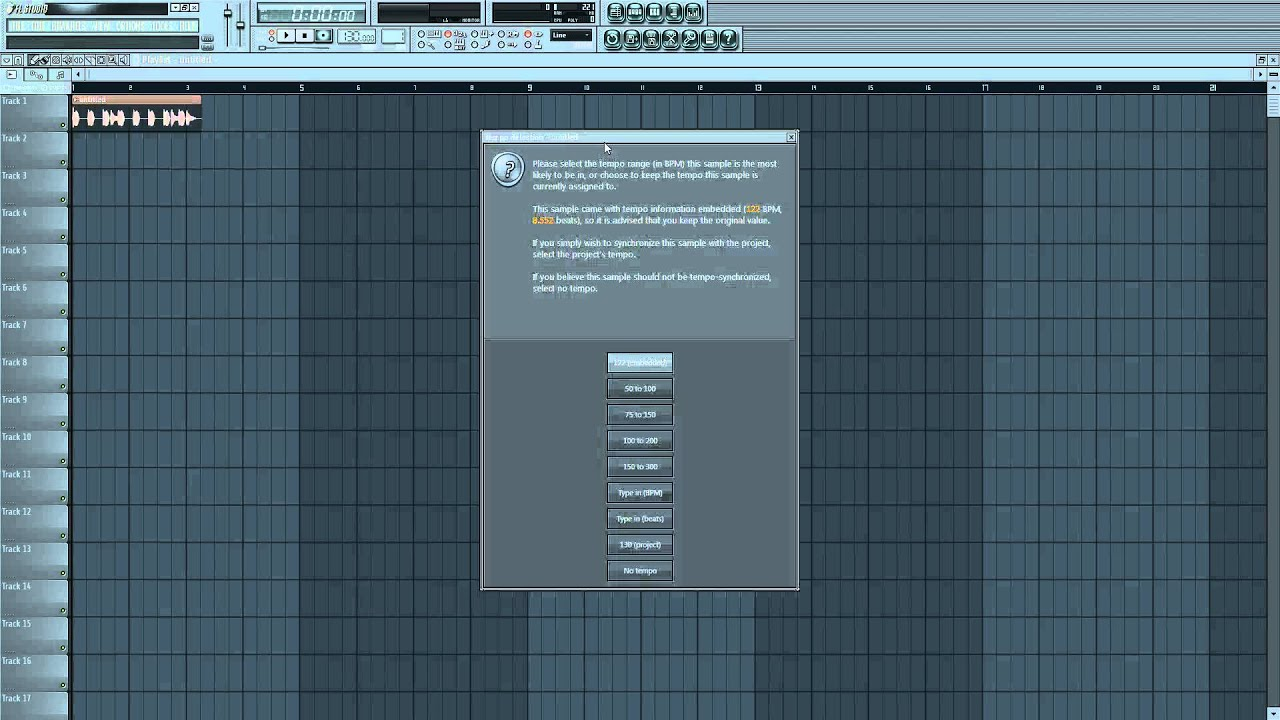 How to sync an audio track to the project BPM in FL studio. (HD ...