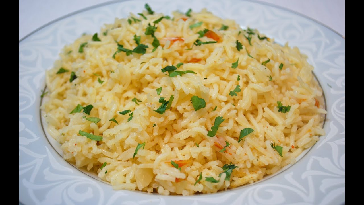 Simple Rice Pilaf Recipe - Fragrant Rice - YouTube