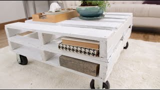 How to Create a Pallet Coffee Table in One Afternoon Eye on Design