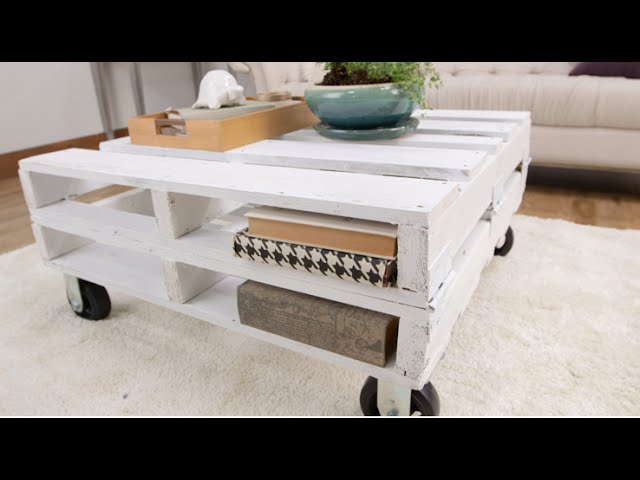 how to create a pallet coffee table in