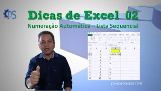 Dica de Excel 02 - Numeração Automática - Lista Sequencial thumbnail