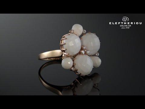 Δαχτυλίδι με ροζ χρυσό Κ18 με Όνυχα   Διαμάντια - 18K Diamond Ring -  MD0126100018 8e2156095cd