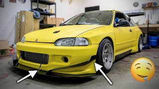 Installing Canards on the Widebody Civic!