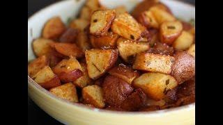 Картошка с чесноком - самая вкусная жареная картошка