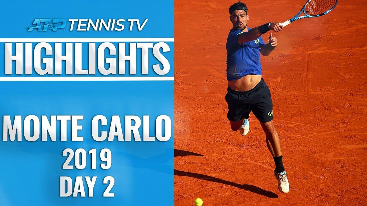 Fognini, Schwartzman Fight Through; Shapovalov Out | Monte-Carlo 2019 Highlights Day 2