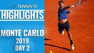 Fognini, Schwartzman Fight Through; Shapovalov Out | Monte-Carlo 2019 Highlights Day 2