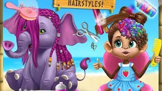 Jungle Animal Care Fun - Play Exciting Makeup Hairstyles & Dress Up Animals - Funny Games