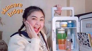 WHAT'S ON MY SKINCARE FRIDGE (Korean Skincare) | Camille Romero