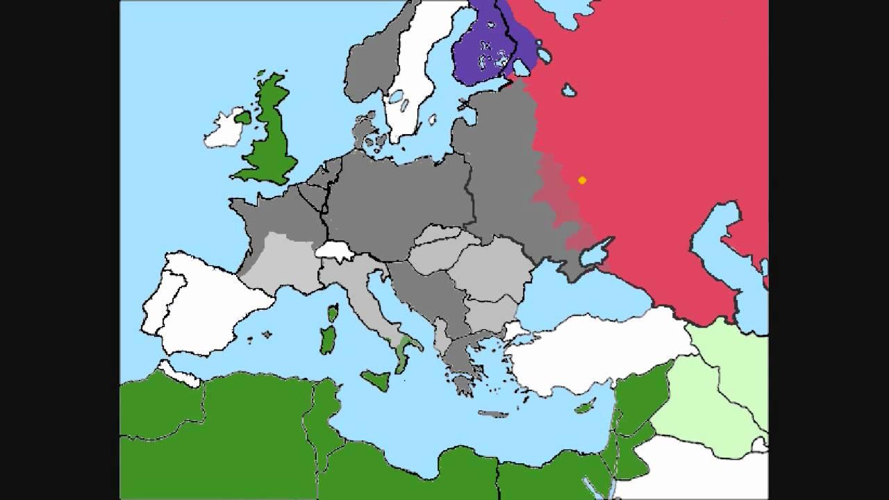 World War Europe Simulation Part YouTube - Europe map 1944