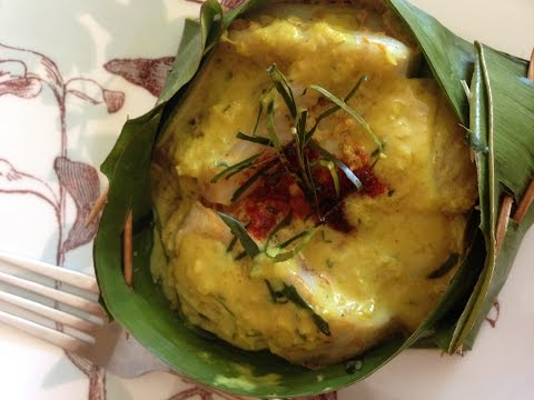 AWESOME AMOK!!-STEAM TILAPIA WITH COCONUT SAUCE!!CAMBODIAN FOOD-ASIAN FOOD-VILLAGE FOOD