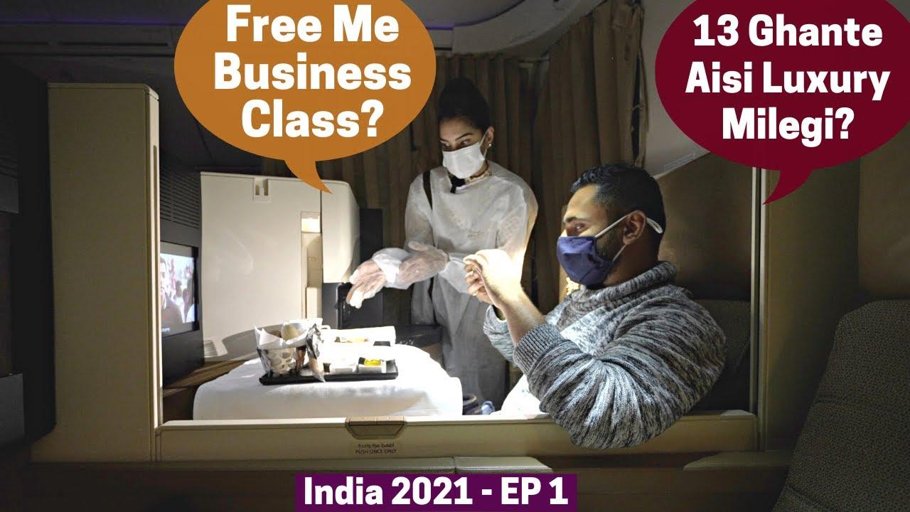 India Wapsi.. Business Class Flight Me...