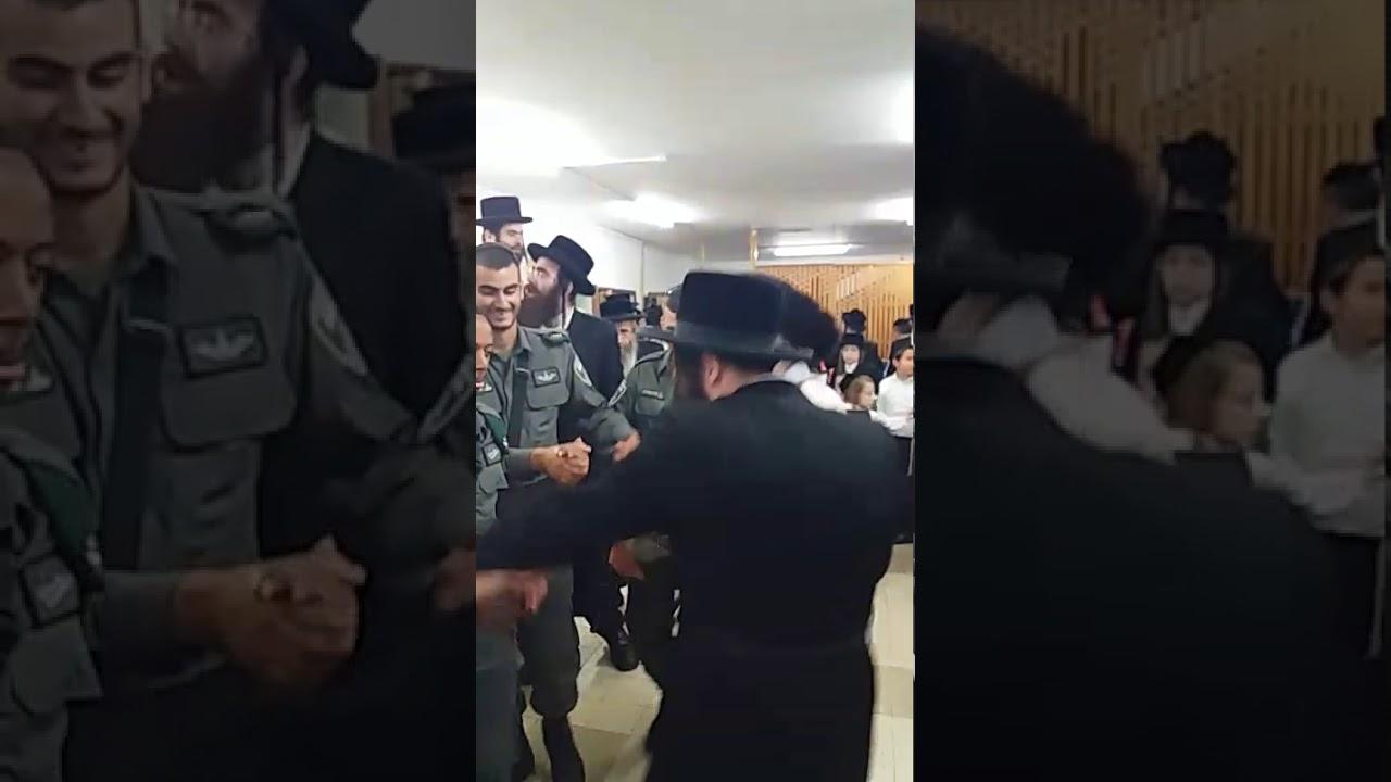 Hasidic Rabbi Dancing with Tzaha