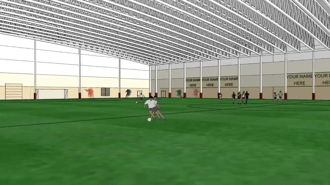 Mansion with indoor soccer field  Pope Architects - Bielenberg Field House - YouTube