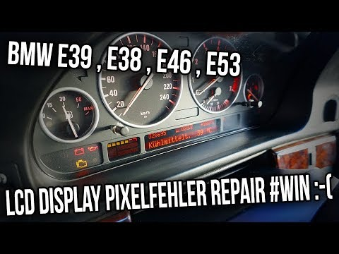 bmw e39 tacho lcd display pixelfehler repair e46 e38. Black Bedroom Furniture Sets. Home Design Ideas