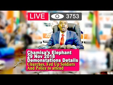 Zimbabwe News, Chamisa Elephant Demo Details, Churches, Fed Up Soldiers & Police to Attend
