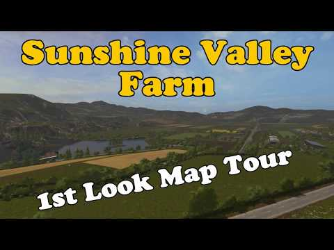 Let's Play Farming Simulator 17 PS4: Sunshine Valley Farm, 1st Look Map Tour!
