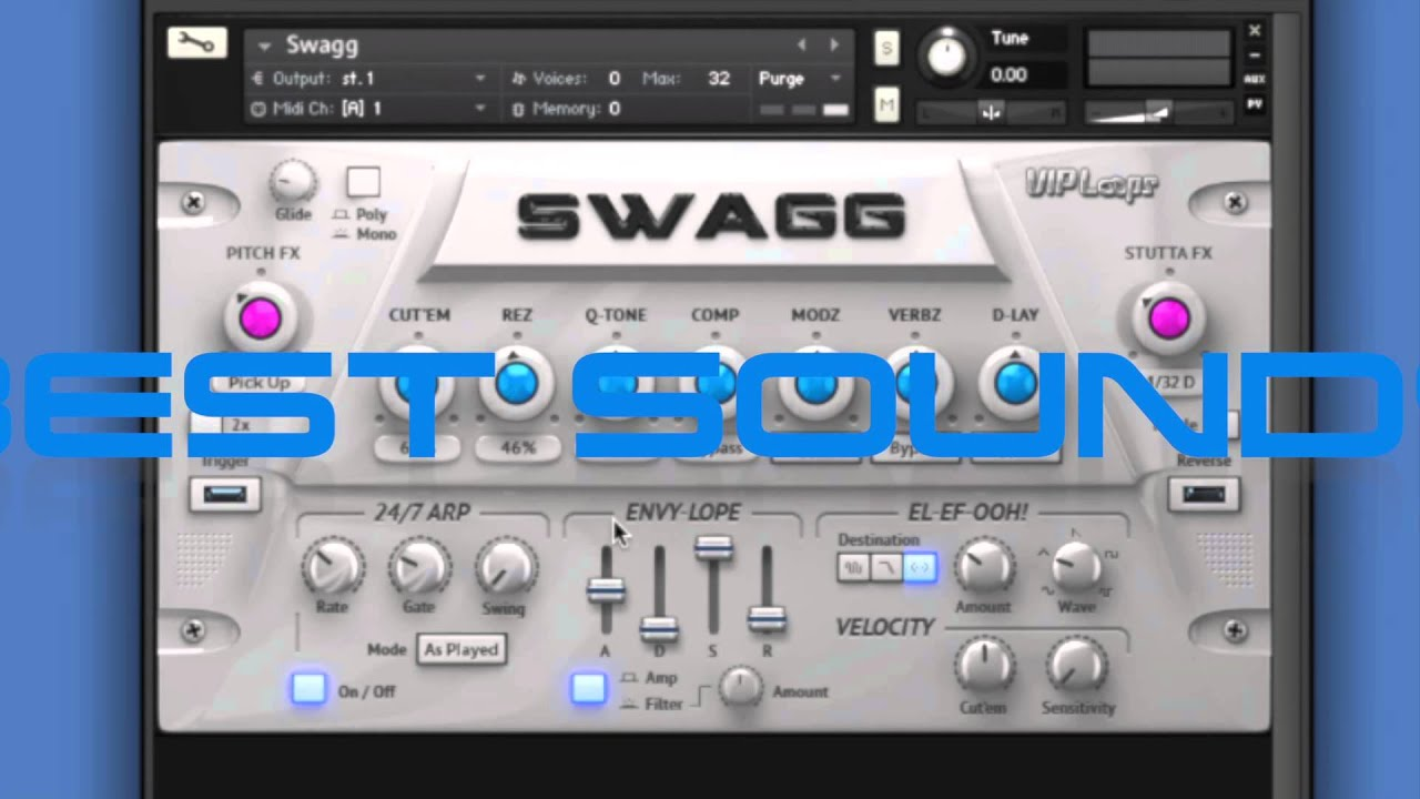SWAGG: New VST from VIP Loops and Big Fish Audio w/o voiceover