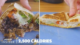 2,500 Calories At Taco Bell vs Chipotle | Nutritional Value Breakdown