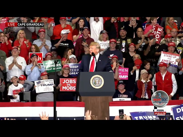 AMAZING! Missouri Crowd Cheers President Trump for TWO Minutes Straight!