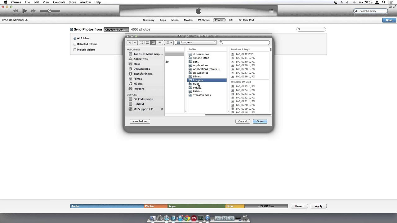 Como passar fotos do seu PC/Mac para seu iPhone/iPad/iPod