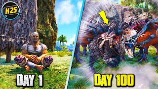 I Survived 100 Dąys of HARDCORE Ark Survival Evolved(The Center)... Here's What Happened 😬