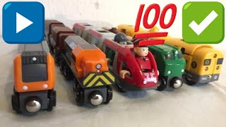 5 different Brio trains Railway (01992 z)