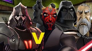 Tulak Hord vs Vader, Maul and Dooku Jedi Academy