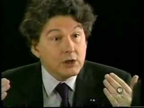 Charlie Rose withTheirry Breton Financial Minister France 2005-2007 Vintage interview US TV