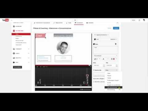 Tutorial – Come inserire annotazioni su un video YouTube e link esterno al tuo sito