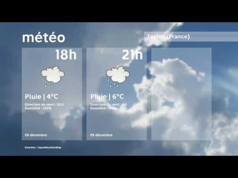 Météo Toulon   vendredi 9 décembre 2016