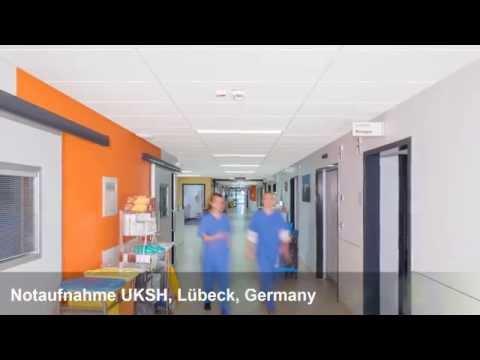 Ecophon Hygiene™ Meditec E C1, Notaufnahme UKSH, Lübeck, Germany