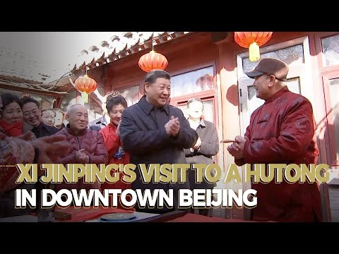 Xi Jinping's Visit To A Hutong In Downtown Beijing